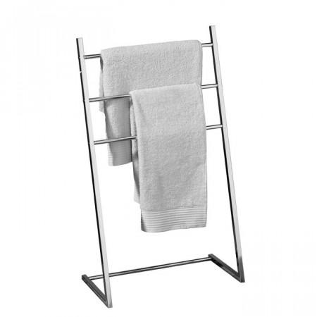 Suport pentru prosoape, metal, crom, 86 x 50 x 26 cm