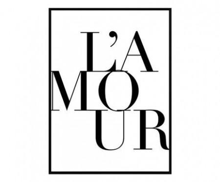 Tablou L'Amour, 30x40 cm