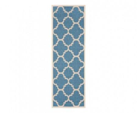 Traversa Mali, albastră/bej, 240x62 cm