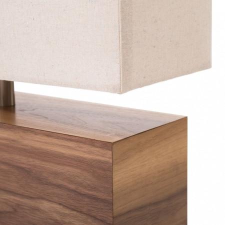 Veioza Woodrock tesatura/lemn, bej