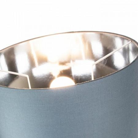 Abajur, din bumbac, gri, 18 x 25 x 25 cm