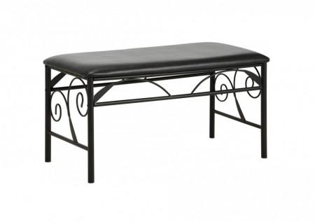 Banca Princess, metal, negru, 90 x 45 x 45 cm