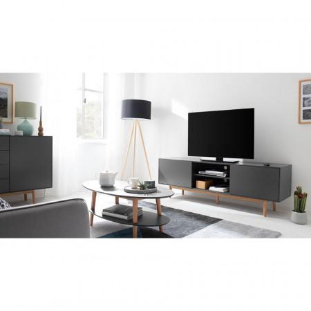 Comoda TV Lindholm, MDF, gri