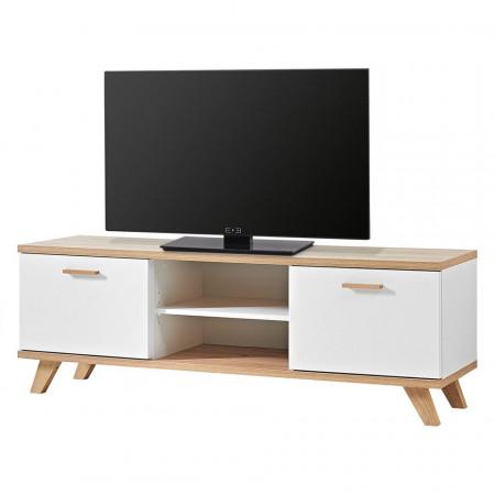 Comoda TV Neston alb/stejar