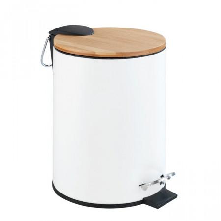 Cos de gunoi Tortona, metal, alb, 23,5 x 17 x 21 cm