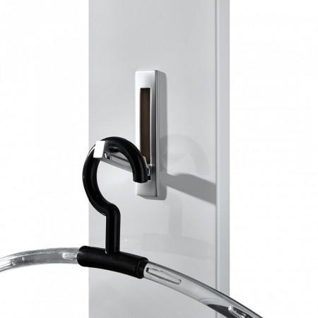 Cuier Colorado MDF/aluminiu, alb lucios/ argintiu, 15 x 170 x 4 cm