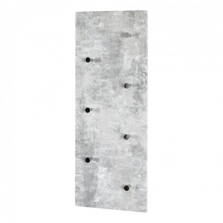 Cuier Harby MDF/metal, gri, 80 x 30 x 6 cm
