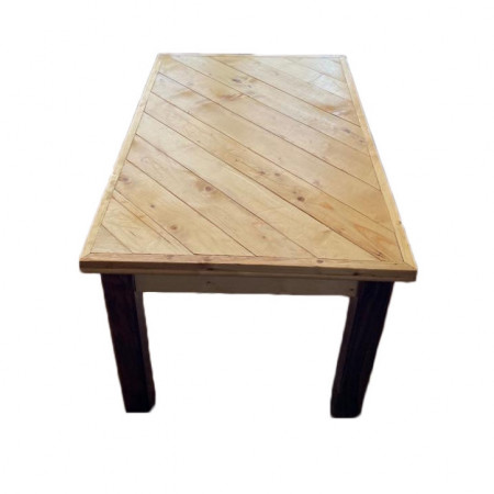 Masa living Plas Dinam lemn masiv, maro, 140 x 80 x 88 cm