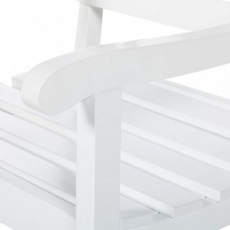 Scaun de gradina Eternal Innocence lemn masiv de salcam, alb, 58 x 88 x 60 cm