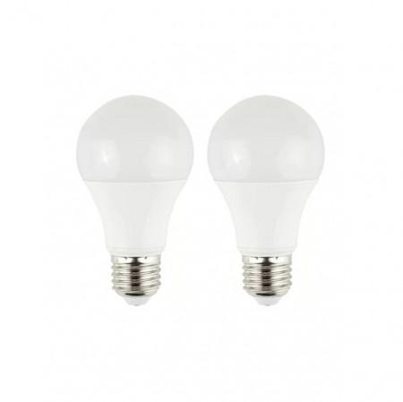 Set 2 becuri E27 LED GLS, 6 wați putere