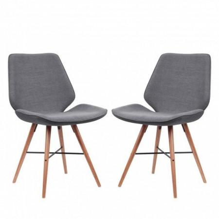 Set de 2 scaune  Tove, Gri