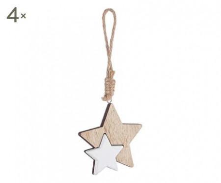 Set de 3 decoratiuni Laurel stella