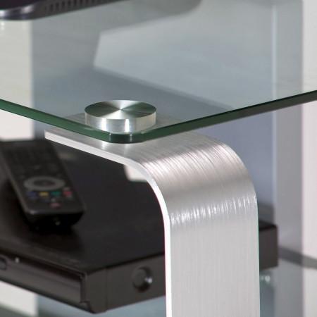 TV Rack CU-MR 100 - sticla/aluminiu