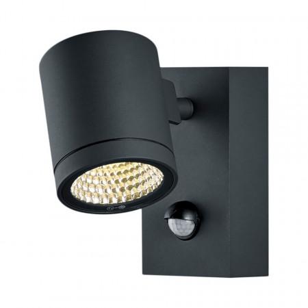 Aplica de perete LED Part aluminiu, neagra, 1 bec, 220 V