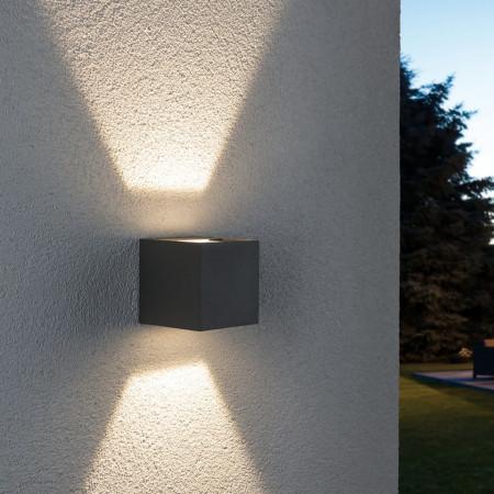 Aplica LED Cybo I metal, gri, 2 becuri, 230 V