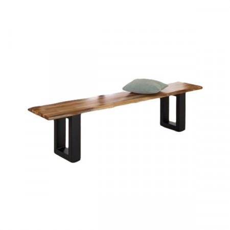 Banca Home Affaire Melody, lemn salcam/ metal, 200 x 39 x 45 cm