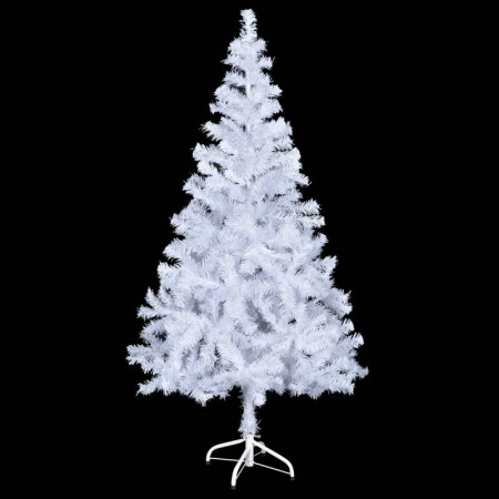 Brad artificial de Craciun alb, 150 x 70 cm