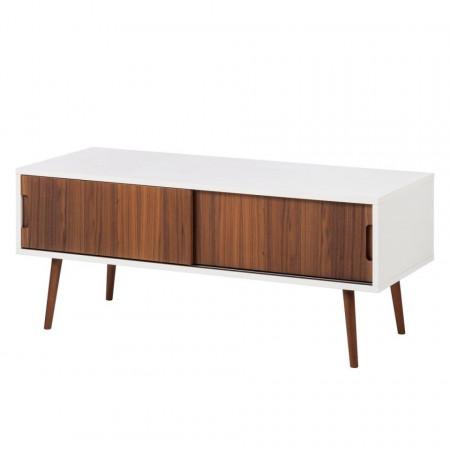 Comoda TV Verwood II pal, alb/maro, 120x50x48 cm