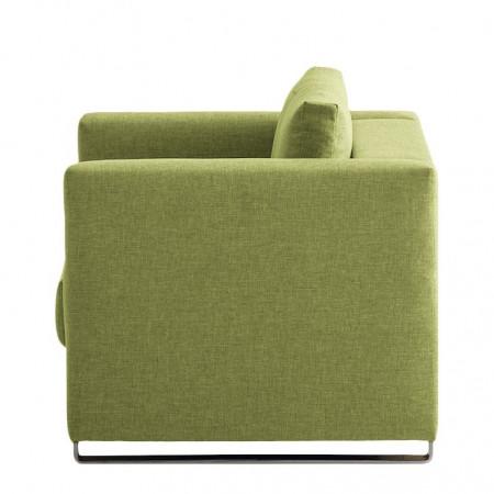 Fotoliu extensibil Randa tesatura, verde, 142 x 83 x 87 cm