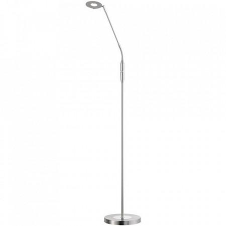 Lampadar Dent I, metal/sticla, argintiu, 150 x 23 x 23 cm, 6w