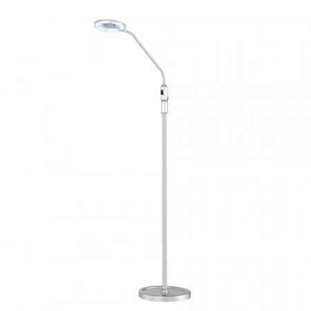 Lampadar LED Laurel metal/sticla acrilica, argintiu, 1 bec, 230 V, 4 W