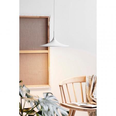 Lustra tip pendul LED Skip I otel vopsit, alb, 1 bec, diametru 35 cm, 230 V