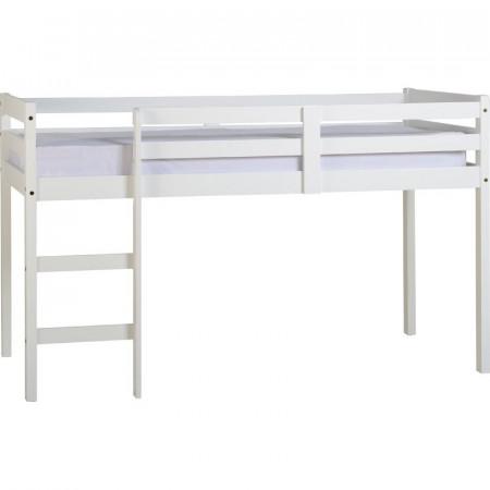 Pat Abbie din lemn, alb, 198 x 103 cm