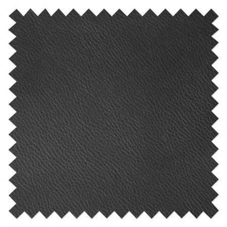 Scaun de bar tip taburet Vincent din piele sintetica neagra