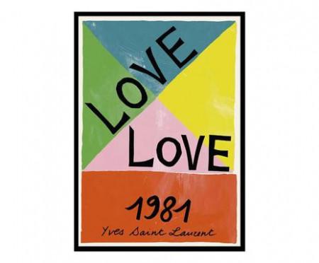 Tablou Love 1981 cu ramă, 30x40 cm