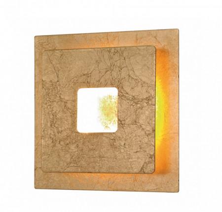 Aplica de perete LED Ennis fier/sticla acrilica, aurie, 1 bec, 230 V