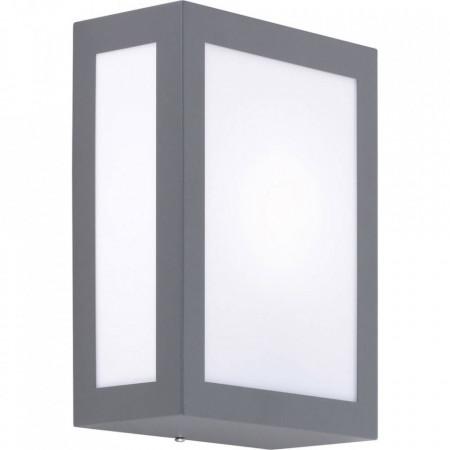 Aplica exterior Lobbie II plastic/metal, alb/gri, 1 bec, 230 V