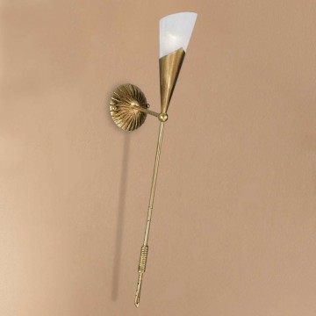 Aplica tip torta Fackel metal/sticla, auriu, 1 bec, 230 V