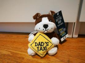 Catelus de plus cu ventuza Dad's Taxi, 10 cm