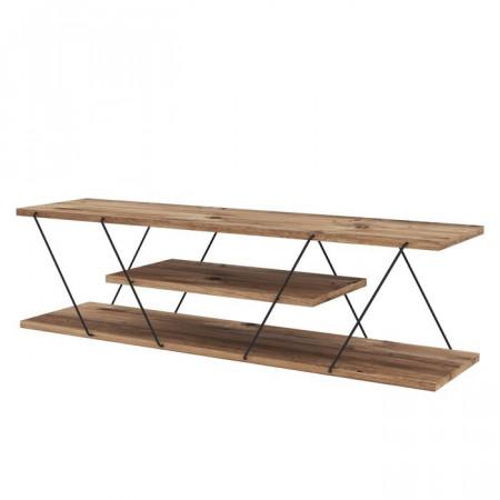 Comoda TV Canaz, lemn, maro, 120 x 33 x 30 cm