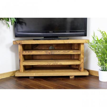 Comoda TV Del City, lemn masiv de pin, maro, 160 x 52 x 40 cm