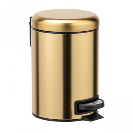 Cos de gunoi Leman, otel inoxidabil, auriu, 25 x 17 x 22,5 cm