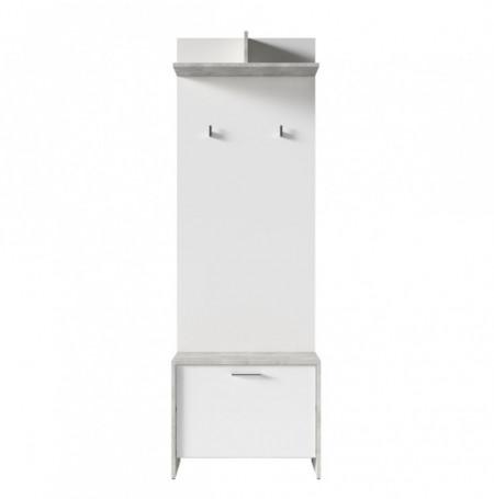 Cuier Edgeworth PAL/plastic, alb, 60 x 136 x 27 cm