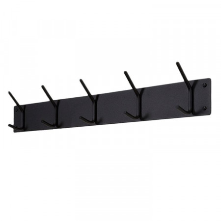 Cuier metalic Falcao II metal, negru, 70 x 11.5 x 6 cm