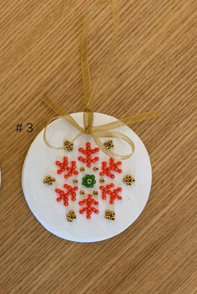 Decoratiune de craciun cu mărgele Star, d. 6.5cm