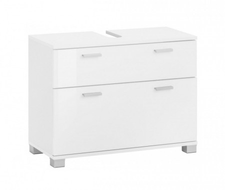 Dulap pentru chiuveta Rowan, metal/plastic/lemn, alb, 70 x 30 x 55 cm
