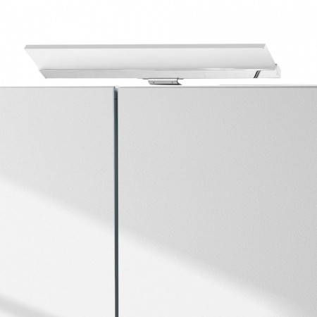 Dulapior de baie cu oglinda Venlo pal/metal/sticla, alb, 60 x 75 x 16 cm