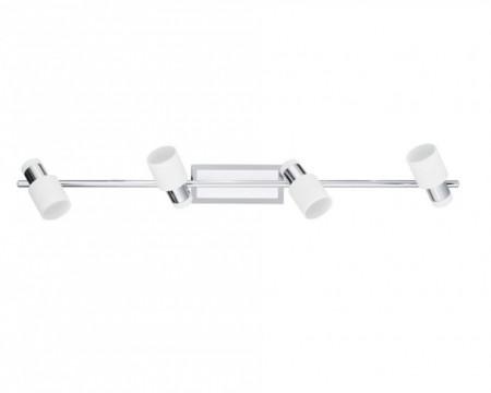 Lustra LED Davida otel, alb, 4 becuri, 240 V