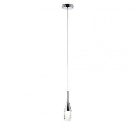 Lustra Proseco sticla/otel, argintiu, 1 bec, 230 V, 5 W