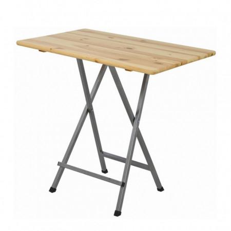 Masa de bar Stanwell IV, lemn masiv de pin/otel
