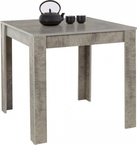 Masa Lynn, MDF/lemn, concrete deschis la culoare, 80x80x75cm