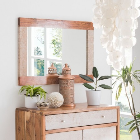 Oglinda Buuda, lemn masiv salcam