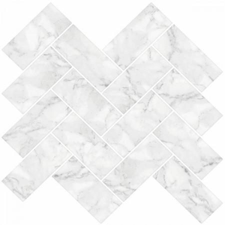 Placă de marmură Herringbone, 3.81 x 7.62 cm