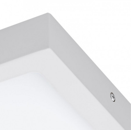 Plafoniera LED Fueva IV plastic / otel, 1 bec, alb, latura 23 cm, 230 V, 2000lm
