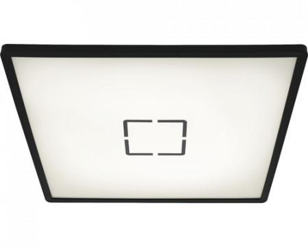 Plafoniera LED Paul ultra plat, plastic, negru/alb, 1 bec, 22 W, 3000 lm, 4000K