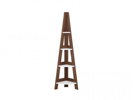 Raft tip scara MOBILE SOLO, maro/alb, 169 x 48 x 31 cm